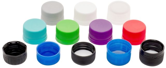 Plastic caps group of 12